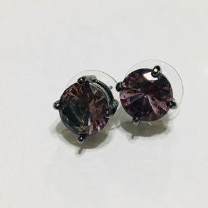 Purple Stud earrings